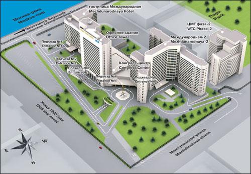 Схема подъездов Центра международной торговли