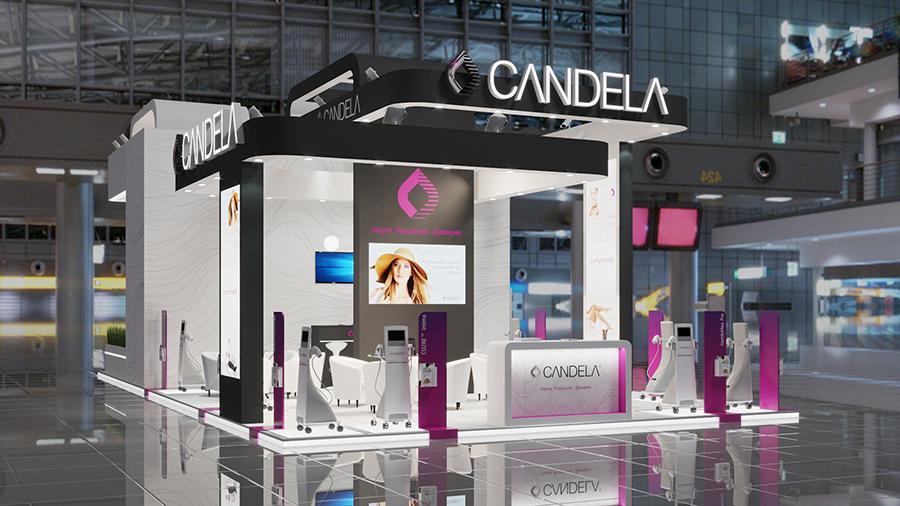 Стенд компании Candela на выставке Интершарм осень 2019